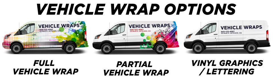 Whiteland Vehicle Wraps vehicle wrap options