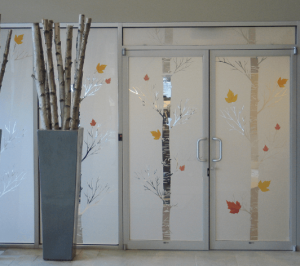 Custom vinyl window privacy film